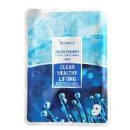 Маска тканевая морской коллаген DEOPROCE COLOR SYNERGY EFFECT SHEET MASK BLUE 20g